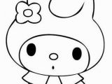 Hello Kitty Little Coloring Pages My Melody with Images