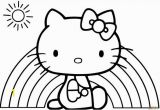 Hello Kitty Mermaid Coloring Page Hello Kitty Rainbow Coloring Page