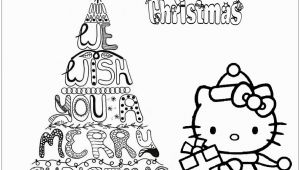 Hello Kitty Merry Christmas Coloring Pages Merry Christmas Hello Kitty Coloring Page Free Coloring