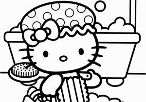 Hello Kitty Nerd Coloring Pages Shower