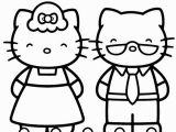 Hello Kitty Printable Coloring Pages Mama and Papa Of Hello Kitty On Printable Coloring Page