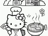 Hello Kitty Rainbow Coloring Pages Hello Kitty Bbq Coloring Page
