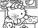 Hello Kitty Sleeping Coloring Pages 57 Best Coloring Pages for Girls Images