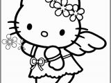 Hello Kitty Sleeping Coloring Pages 🎨 🎨 Angel Hello Kitty Free Printable Coloring Pages for
