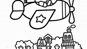 Hello Kitty Summer Coloring Pages Hello Kitty On Airplain – Coloring Pages for Kids with