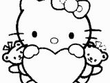 Hello Kitty Valentine Coloring Pages to Print 100 Pictures Of Hearts Avec Images
