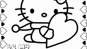 Hello Kitty Valentines Day Coloring Pages Hello Kitty Valentine Coloring Pages