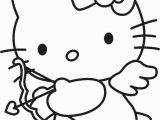 Hello Kitty Valentines Day Coloring Pages Printable Hello Kitty Cupid with Images