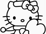 Hello Kitty Valentines Day Coloring Pages Printable Valentine Heart Coloring Sheets