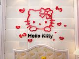 Hello Kitty Wall Murals Stickers 3d Pvc Cute Hello Kitty Wall Sticker for Kid Bedroom Living Room Sticker Home Decor New Arrival Fridage Stickers Decoration 2d5 Removable Wall Art
