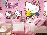 Hello Kitty Wall Murals Stickers Free Shipping Custom Size Children S Room Hello Kitty Cartoon Wallpaper Mural Waterproof Girl Boy Wall Paper for Kids Bedroom