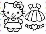 Hello Kitty Winter Coloring Pages Hello Kitty Coloring Pages Dress