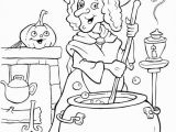 Hello Kitty Witch Coloring Pages Halloween Coloring Picture
