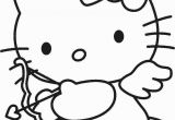 Hello Kitty with Balloons Coloring Pages Hello Kitty Cupid with Images