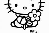 Hello Kitty with Balloons Coloring Pages Hello Kitty
