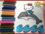 Hello Kitty with Dolphin Coloring Pages Hello Kitty Coloring Pages How to Color Hello Kitty On Dolphin Coloring Pages Shosh Channel