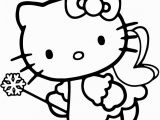 Hello Kitty with Dolphin Coloring Pages Hello Kitty Fairy Coloring Pages with Images