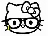 """Hello Kitty with Glasses Coloring Pages Amazon Hello Kitty Nerd Glasses Sticker Black 5"""" X"""
