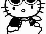 Hello Kitty with Glasses Coloring Pages Hello Kitty Coloring Book – Freshly Picked
