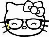 Hello Kitty with Glasses Coloring Pages Hello Kitty Glasses Clipart Clipart Best