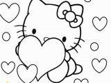 Hello Kitty with Hearts Coloring Pages Hello Kitty Coloring Pages with Images