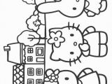 Hello Kitty with Hearts Coloring Pages Hello Kitty Coloring Picture