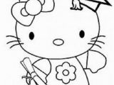 Hello Kitty with Hearts Coloring Pages Hello Kitty Graduation Coloring Pages with Images