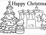 Hello Kitty Xmas Coloring Pages Hello Kitty Christmas 1 Coloring Page Free Coloring Pages