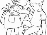 Helping Others Coloring Pages for Preschoolers Kids Helping Each Other Coloring Page Coloring Home