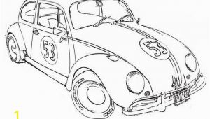 Herbie the Love Bug Coloring Pages Love Bug Herbie the Movie Coloring Page Coloring Pages