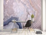 High End Wall Murals Removable Peel and Stick Wallpaper Grey Geode Agate Crystal