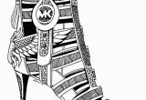 High Heels Coloring Pages 3 Beautiful Michael Kors Shoes Drawings for Fashion Lovers