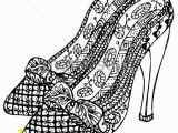 High Heels Coloring Pages Hand Drawn Zentangle Shoes Coloring Misc
