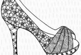 High Heels Coloring Pages High Heel Stiletto Shoe Colouring Page