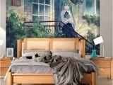 High School Wall Murals Hatsune Miku Wallpaper Anime Girls Wall Mural Custom 3d Wallpaper for Walls Vocaloid Bedroom Living Room Dormitory School Designer Hd A