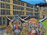 Highland Cow Wall Mural Amazon Canvas On Demand Jack and Victor Mccoo Wall Peel