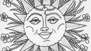 Hippie Sun and Moon Coloring Pages for Adults 13 Pics Psychedelic Moon Coloring Pages Hippie Sun