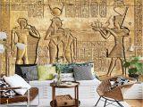 Historic Wallpaper Murals Custom Silk Material Wallpaper Hd Egyptian Reliefs Mural Mythology