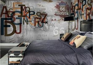 Historic Wallpaper Murals Europe Stereoscopic 3d Graffiti Letters Retro Street Rock Wall