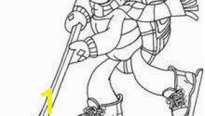 Hockey Christmas Coloring Pages Franklin Playing Ice Hockey Coloring Pages Hellokids
