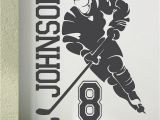 Hockey Wall Murals Ice Hockey 2018 Custom Name & Number Hockey Player Vinyl Wall Decals