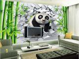 Hole In Wall Mural wholesale Custom 3d Wallpaper for Walls 3d Wallpaper Murals 3d Hole Wall Cute Panda Bamboo Tv Background Wall Painting Wall Home Decor Wallpaper