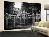 Hollywood Sign Wall Mural Wall Mural Gate at Buckingham Palace Green Park London Uk