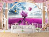 Hollywood Sign Wall Murals Custom 3d Wallpaper Mural Living Room sofa Tv Backdrop Mural Lavender Balloon Rome Balcony Picture Wallpaper Mural Sticker Home Decor High