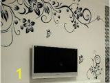 Home Decor Mural Art Wall Paper Stickers Removable butterfly Flower Diy Vinyl Decal Art Mural Home Decor Wall