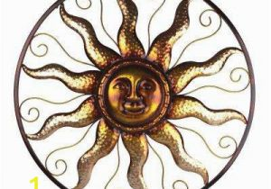 Home Depot Canada Wall Murals 25 In Steel Bronze Sun Decorative Wall Art