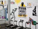 Home Gym Wall Murals Customized 3d Stereo Sports Gym Wall Paper Mural Nostalgic Retro Sports Gym Weightlifting Background Decorative Wall Papel De Parede Mobile