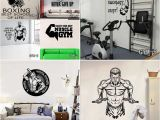 Home Gym Wall Murals Fitness Gym Wall Decal Vinyl Wall Sticker Sport Home Mural