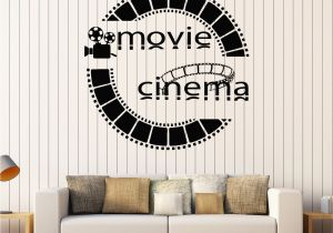 Home theater Wall Murals Vinyl Wall Decal Cinema Movie Cinemaddict Stickers Mural Unique
