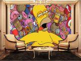 Home Wall Mural Painting Singapore Homer Simpson Wall Mural Kids Wall Murals Amazon